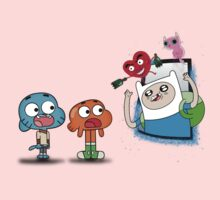 ADVENTURE TIME X GUMBALL Baby Tee