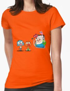 ADVENTURE TIME X GUMBALL Womens Fitted T-Shirt