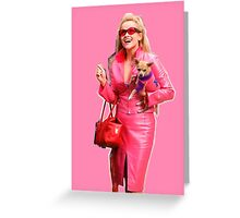 Elle Woods Legally Blonde Bruiser Chihuahua Greeting Card