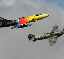 Hawker Hurricane with the Hawker Hunter by Shane Ransom