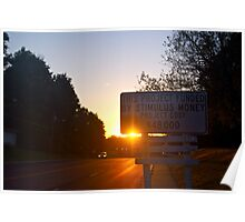 stimulus sunset Poster
