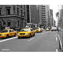 Yellow cab NYC Photographic Print