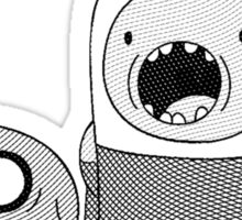 Adventure Time - Finn & Jake WTF Sticker