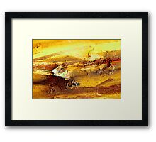 Abstract rusty lumps of metal Framed Print