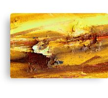 Abstract rusty lumps of metal Canvas Print