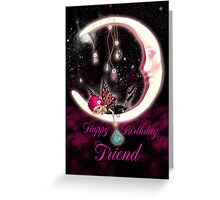 Fairy Birthday Card For Friend Greeting Card