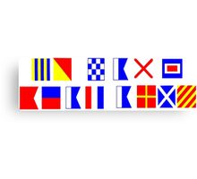 Go Navy Beat Army in Signal Flags Canvas Print