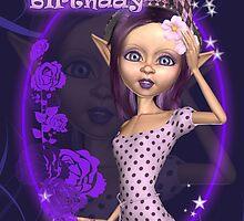 Cute Elf Birthday Card by Moonlake