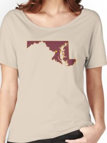 Home Sweet Maryland/ D.C (Football) Women's Relaxed Fit T-Shirt