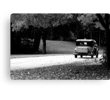Vintage Auto On The Road Again Canvas Print