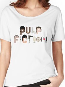 Pulp Fiction Characters Women's Relaxed Fit T-Shirt