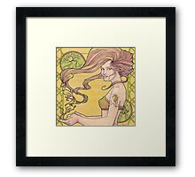 Tattooed Mermaid 2 Framed Print