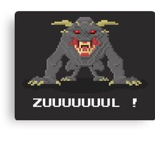 Zul - Ghostbusters Pixel Art Canvas Print