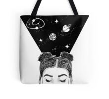 Galaxy Space Girl Tote Bag