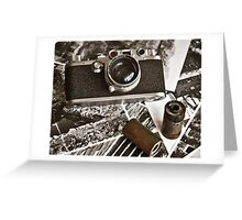 Old camera Greeting Card