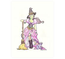 Steampunk Wicked Witch of the West Art Print