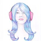 Blue haired Valentine by Karen  Hallion