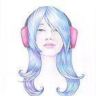 Blue haired Valentine by Karen  Hallion
