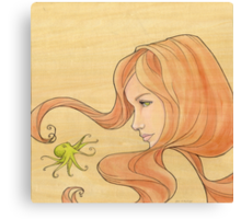 The Octopus Mermaid 1 Canvas Print