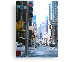 Broadway and down Canvas Print