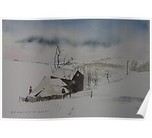 Barn in the snow Poster