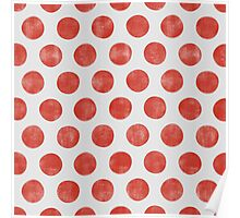 Sweet Red White Polka Dot Poster