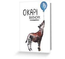 Okapi Birthday! Greeting Card