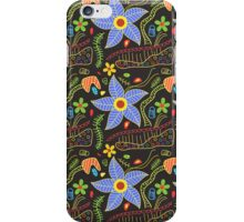 Colorful floral doodle pattern iPhone Case/Skin
