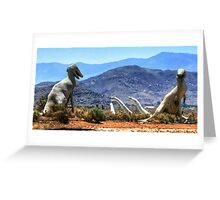 Desert Dinos Greeting Card