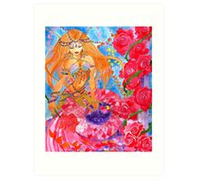 Rose Bellydancer Mermaid Art Print