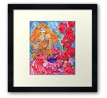 Rose Bellydancer Mermaid Framed Print