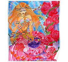 Rose Bellydancer Mermaid Poster