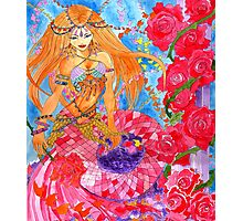 Rose Bellydancer Mermaid Photographic Print