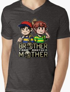 Another MOTHER - Ness & Travis Mens V-Neck T-Shirt