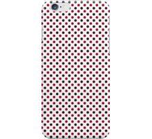 Cute Black White Red Polka Dot iPhone Case/Skin