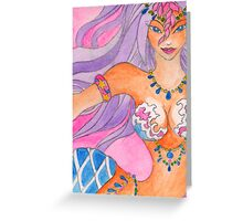 Ready to bellydance Mermaid Greeting Card