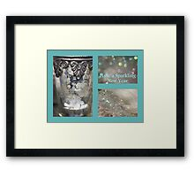 Sparkling New Year - JUSTART © Framed Print