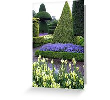 LEVINS HALL TOPIARY GARDEN Greeting Card