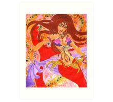 Sexy Bellydancing Mermaid Ruby Art Print