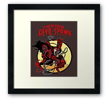The Mouth Mercing Devil-Spawn Framed Print