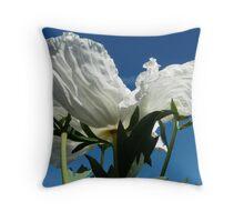 large white flower Throw Pillow