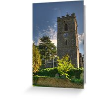 St Mary's Church Hayes Middlesex Greeting Card