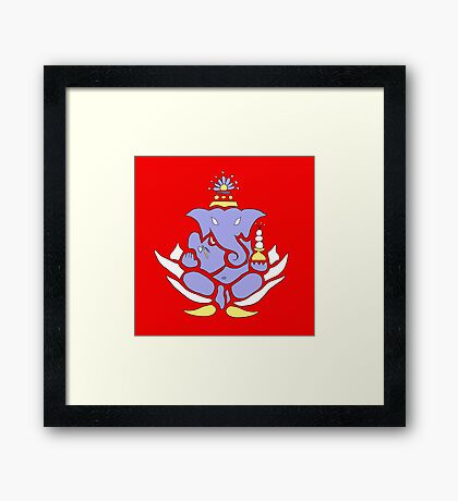 Ganesh: Overcome Your Obstacles Framed Print