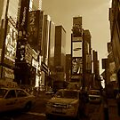 Times Square in Sepia Tone by MikeyLee