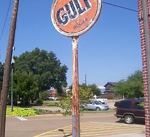 Gulf Sign - Brookhaven, MS by Dan McKenzie