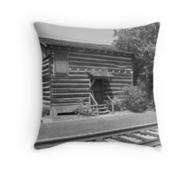 Foster-Smith Log Cabin - Brookhaven, MS Throw Pillow