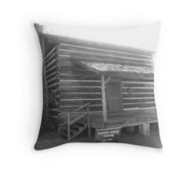 Foster-Smith Cabin (front view) - Brookhaven, MS Throw Pillow