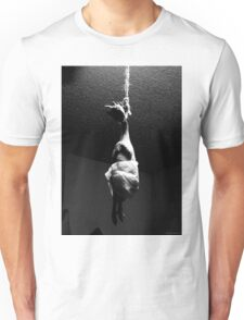 chicken in a diaper from a noose Unisex T-Shirt