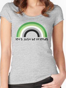 Let's Just Be Friends Women's Fitted Scoop T-Shirt