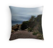 Stairs By the Sea Throw Pillow